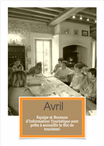 Travail de l'Office de tourisme- Avril 2016